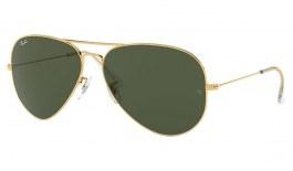 Ray-Ban RB3026 Aviator Large Metal II Sunglasses - Gold / Green