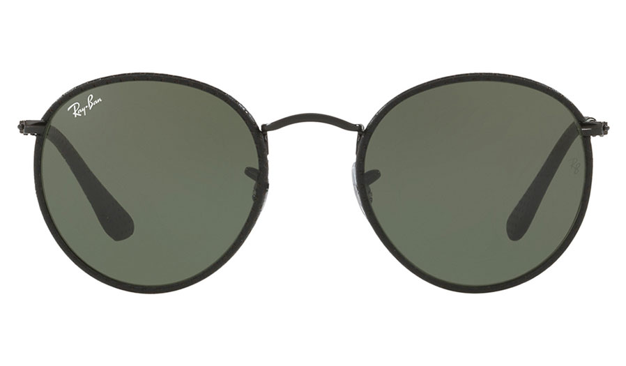 5362c9c6d4 Ray-Ban RB3475Q Round Craft Sunglasses - Black   Black Leather   Green