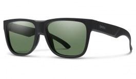 Smith Lowdown 2 Sunglasses - Matte Black / ChromaPop Grey Green Polarised