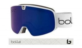 Bolle Nevada Neo Prescription Ski Goggles - Matte Offwhite / Bronze Blue + Light Vermillon Blue