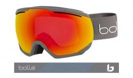 Bolle Northstar Prescription Ski Goggles - Matte Grey / Phantom Fire Red Photochromic