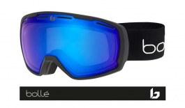 Bolle Laika Prescription Ski Goggles - Matte Black Corp / Phantom+ Polarised Photochromic