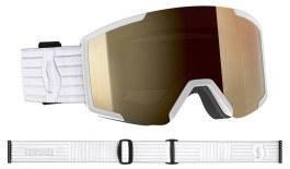 Scott Shield Prescription Ski Goggles - White / Light Sensitive Bronze Chrome Photochromic