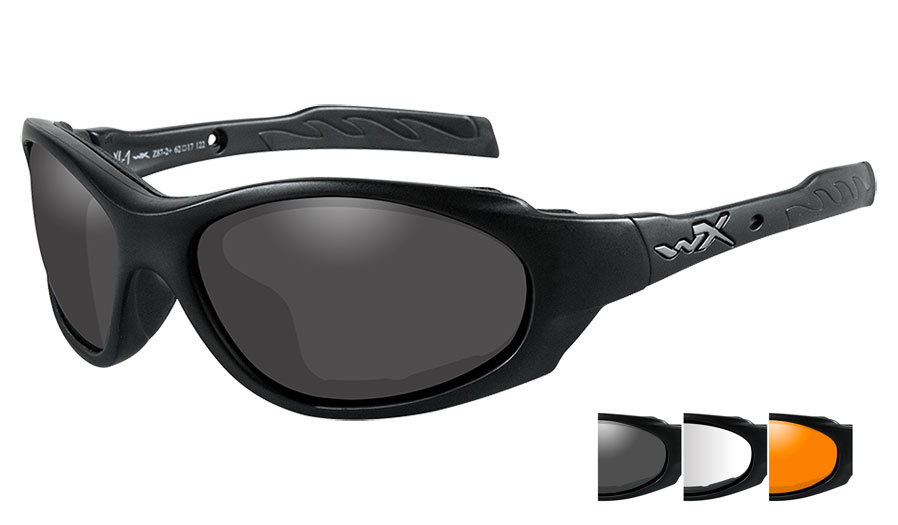 Wiley X XL-1 Advanced Sunglasses - Matte Black / Smoke Grey + Clear + Light Rust