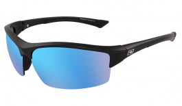 Dirty Dog Sport Sly Sunglasses - Matte Black / Ice Blue Mirror