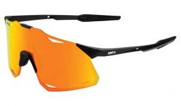 100% Hypercraft Sunglasses - Matte Black / HiPER Red Multilayer Mirror + Clear