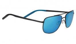 Serengeti Tellaro Sunglasses - Matte Black & Blue / 555nm Blue Polarised Photochromic