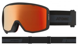 Atomic Count Jr Cylindrical Ski Goggles - Black / Red Flash