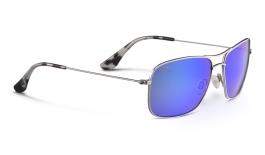 Maui Jim Wiki Wiki Sunglasses - Silver / Blue Hawaii Polarised
