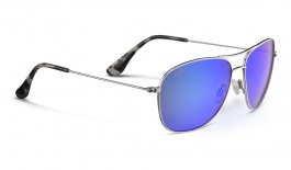Maui Jim Cliff House Sunglasses - Silver / Blue Hawaii Polarised
