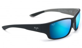 Maui Jim Local Kine Sunglasses - Soft Black with Sea Blue and Grey / Blue Hawaii Polarised