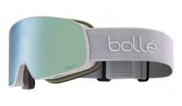 Bolle Nevada Small Ski Goggles - Matte Lightest Grey / Volt Ice Blue