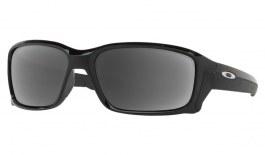 Oakley Straightlink Prescription Sunglasses - Polished Black (Polished Chrome Icon)