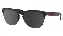 Oakley Frogskins Lite Prescription Sunglasses - Matte Black & Red Logo