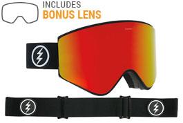 Electric EGX Ski Goggles - Matte Black / Brose Red Chrome + Pink