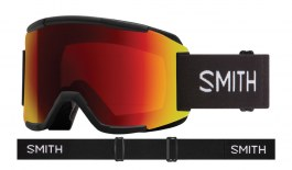Smith Squad Ski Goggles - Black / ChromaPop Sun Red Mirror + Yellow