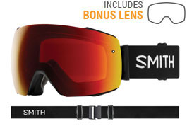 Smith Optics I/O MAG Prescription Ski Goggles - Black / ChromaPop Sun Red Mirror + ChromaPop Storm Rose Flash