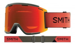 Smith Squad XL MTB Goggles - Sage & Red Rock / ChromaPop Everyday Red Mirror + Clear