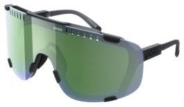 POC Devour Sunglasses - Translucent Uranium Black / Grey with Deep Green Mirror + Clear
