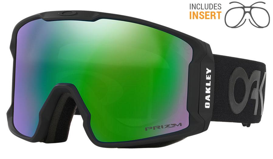 0f7b236480c Oakley Line Miner Prescription Ski Goggles - Factory Pilot Blackout   Prizm  Jade Iridium - RxSport