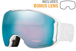Oakley Airbrake XL Ski Goggles - Factory Pilot - Factory Pilot Whiteout / Prizm Sapphire Iridium + Prizm HI Pink Iridium