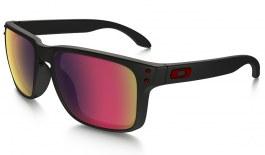 Oakley Holbrook Sunglasses - Matte Black / Positive Red Iridium