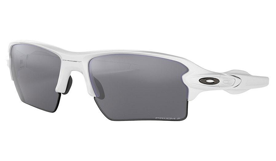 Oakley Flak 2.0 XL Sunglasses - Polished White / Prizm Black Polarised