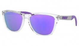 Oakley Frogskins Mix Sunglasses - Polished Clear / Prizm Violet Polarised