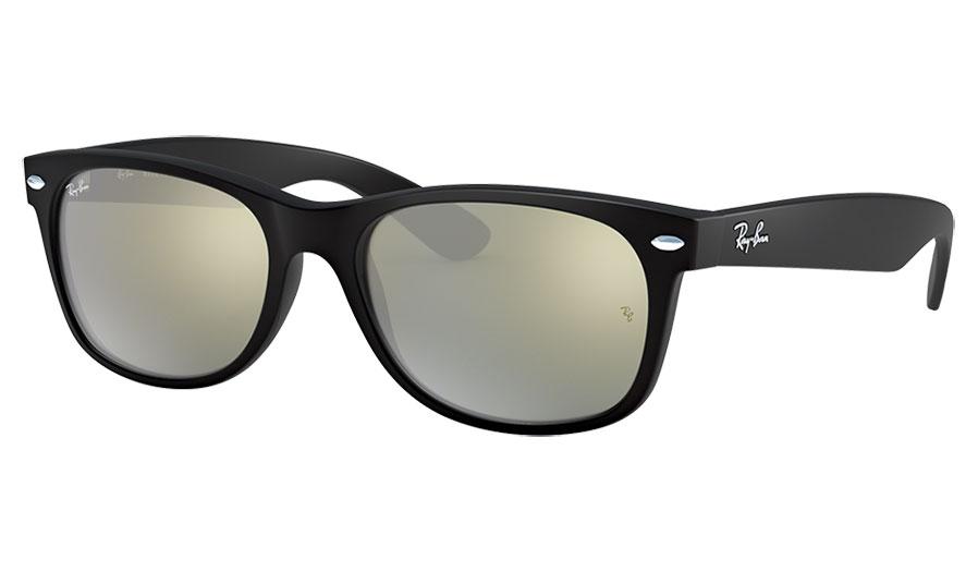 Ray-Ban RB2132 New Wayfarer Sunglasses - Matte Black / Silver Flash