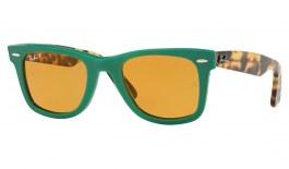 Ray-Ban RB2140 Original Wayfarer Sunglasses - Green & Tortoise / Yellow Classic Polarised