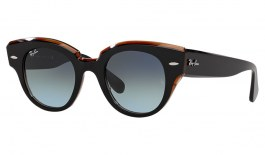Ray-Ban RB2192 Roundabout Sunglasses - Black / Blue Gradient