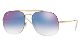 Ray-Ban RB3583N Blaze General Sunglasses - Gold / Blue Gradient Mirror