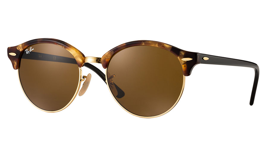 Ray Ban Rb4246 Clubround Sunglasses Tortoise Brown