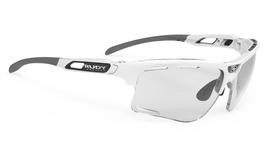 Rudy Project Keyblade Prescription Sunglasses - Clip-On Insert - White Gloss / ImpactX 2 Photochromic Laser Black