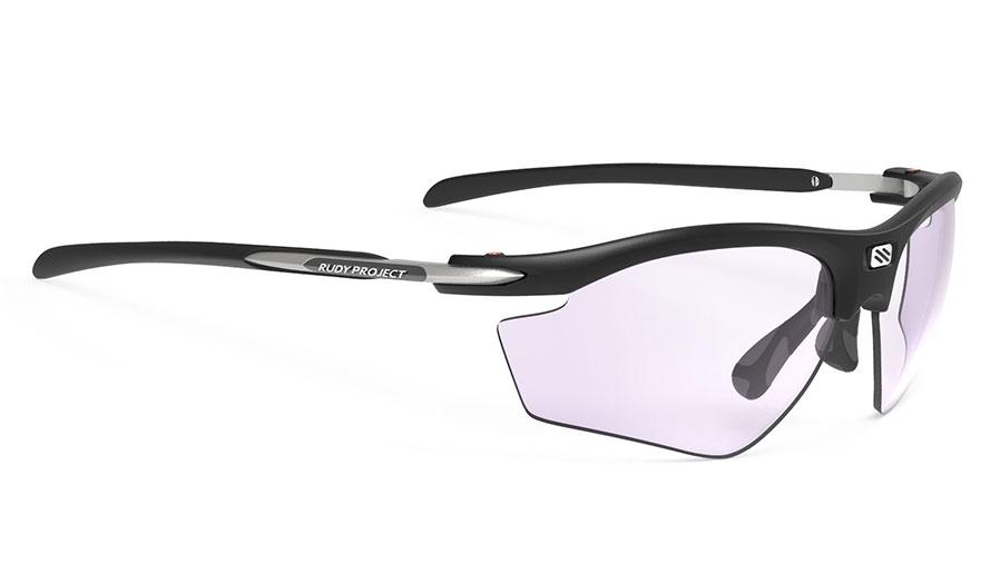 Rudy Project Rydon Prescription Sunglasses - Clip-On Insert - Matte Black (Golf Edition) / ImpactX 2 Photochromic Laser Purple