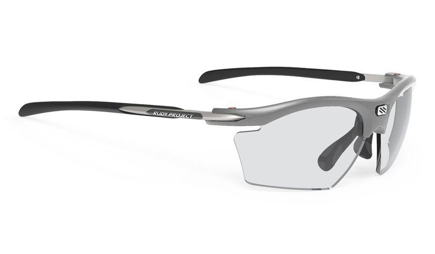 Rudy Project Rydon Slim Prescription Sunglasses - ImpactRX Directly Glazed - Matte Light Grey