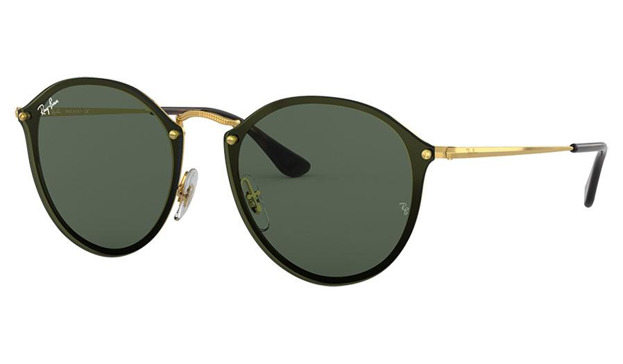Ray-Ban RB3574N Blaze Round Sunglasses - Gold / Green