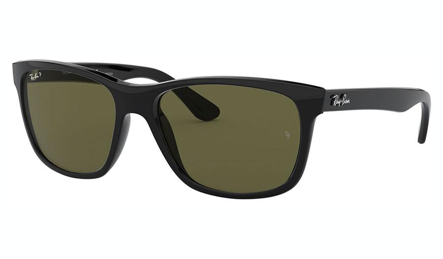 Ray-Ban RB4181 Sunglasses - Black / Green Polarised