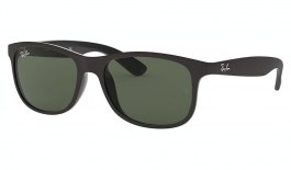 Ray-Ban RB4202 Andy Sunglasses - Matte Black / Green