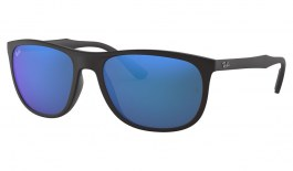 Ray-Ban RB4291 Sunglasses - Matte Black / Blue Mirror