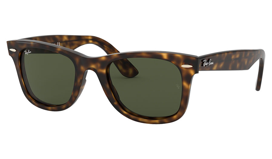 Ray-Ban RB4340 Wayfarer Ease Sunglasses - Tortoise / Green