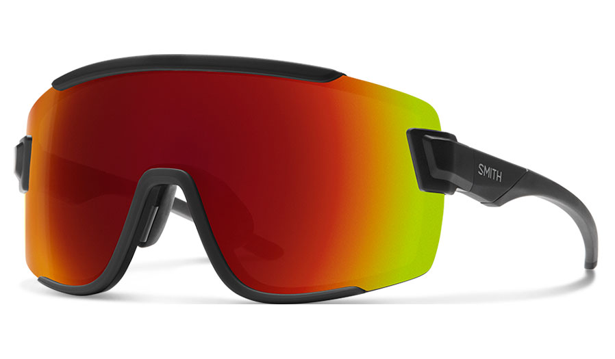 Smith Wildcat Sunglasses - Matte Black / ChromaPop Red Mirror + Clear