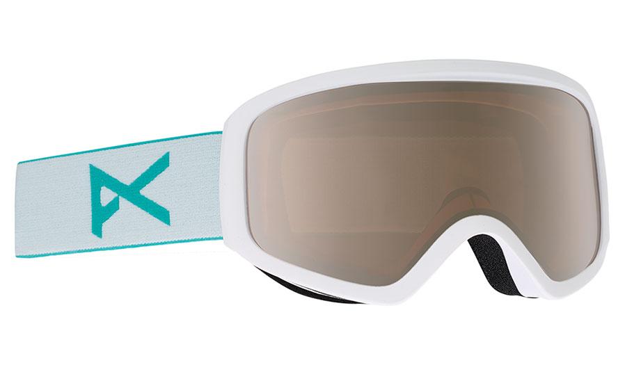 Anon Insight Ski Goggles - White / Silver Amber + Amber