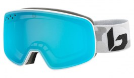 Bolle Nevada Ski Goggles - Matte White Camo / Light Vermillon Blue