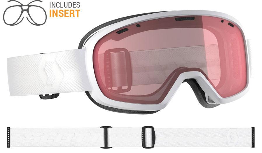0a9bb053be7 Scott Muse Prescription Ski Goggles - White   Illuminator - RxSport