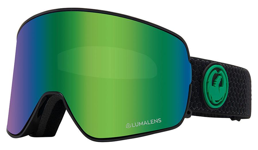 Dragon NFX2 Ski Goggles - Split / LumaLens Green Ion + LumaLens Amber