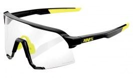 100% S3 Sunglasses - Gloss Black / Clear Smoke Photochromic