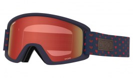 Giro Dylan Ski Goggles - Hearts / Amber Scarlet + Yellow