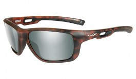 Wiley X Aspect Sunglasses - Matte Demi Tortoise / Smoke Green Platinum Flash Polarised
