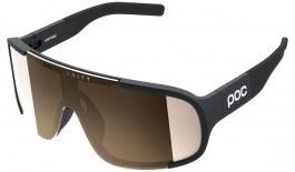 POC Aspire Sunglasses - Uranium Black / Clarity Trail Brown with Silver Mirror